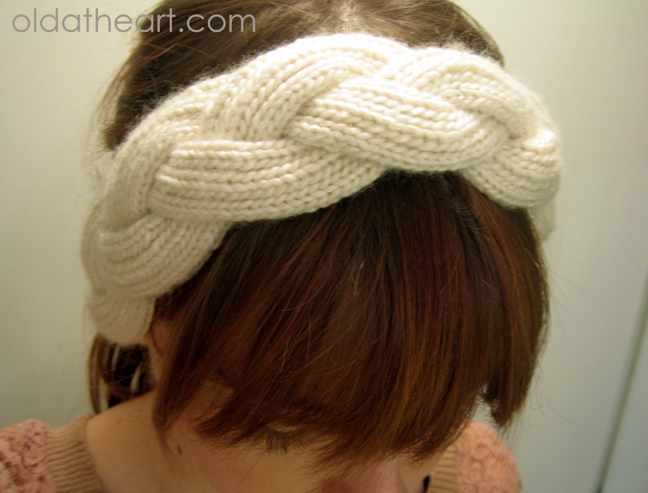 knit braided headband old at heart